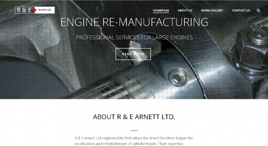 Website Redesign R & E Arnett Ltd