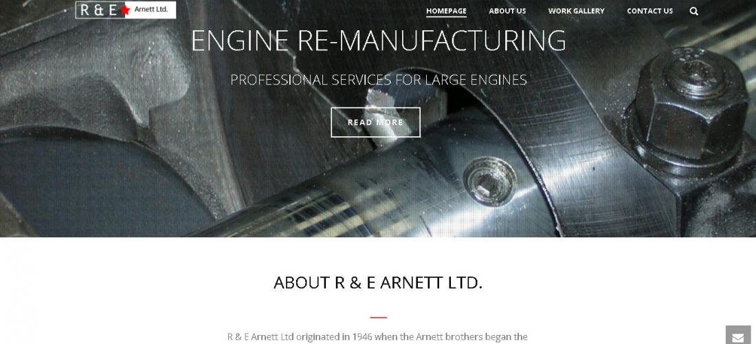 Website Redesign R & E Arnett Ltd