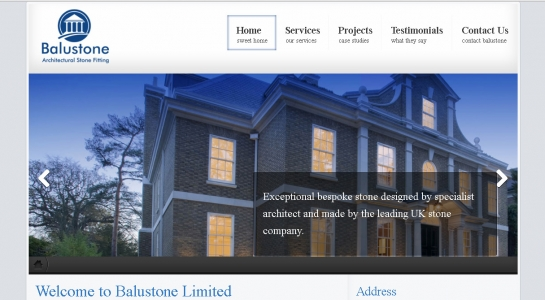 Brand New Website – Balustone Limited