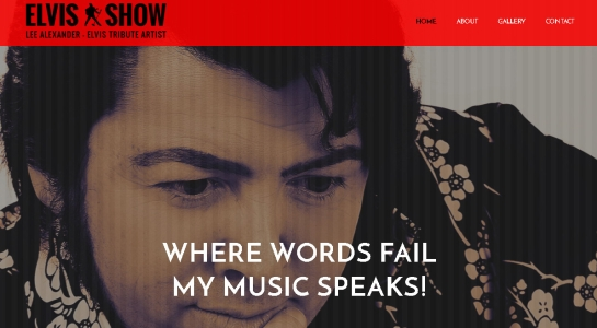 Music Artist Website – Elvis Show