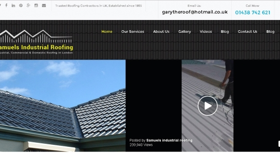 Responsive Web Design – Samuels Industrial Roofing