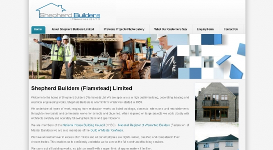 Joomla Website Development – Shepherd Builders