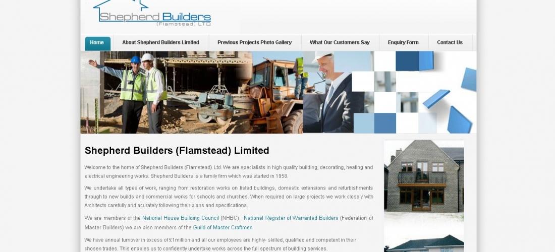 Joomla Website Development – Shepherd Builders