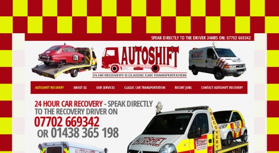 Auto Recovery Company Website Design – Autoshift Recovery